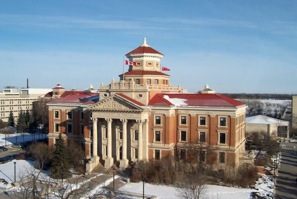 University of Manitoba Administration Building in the winter. UofM Commerce Students Association in the latest group to partner with Nimbus.